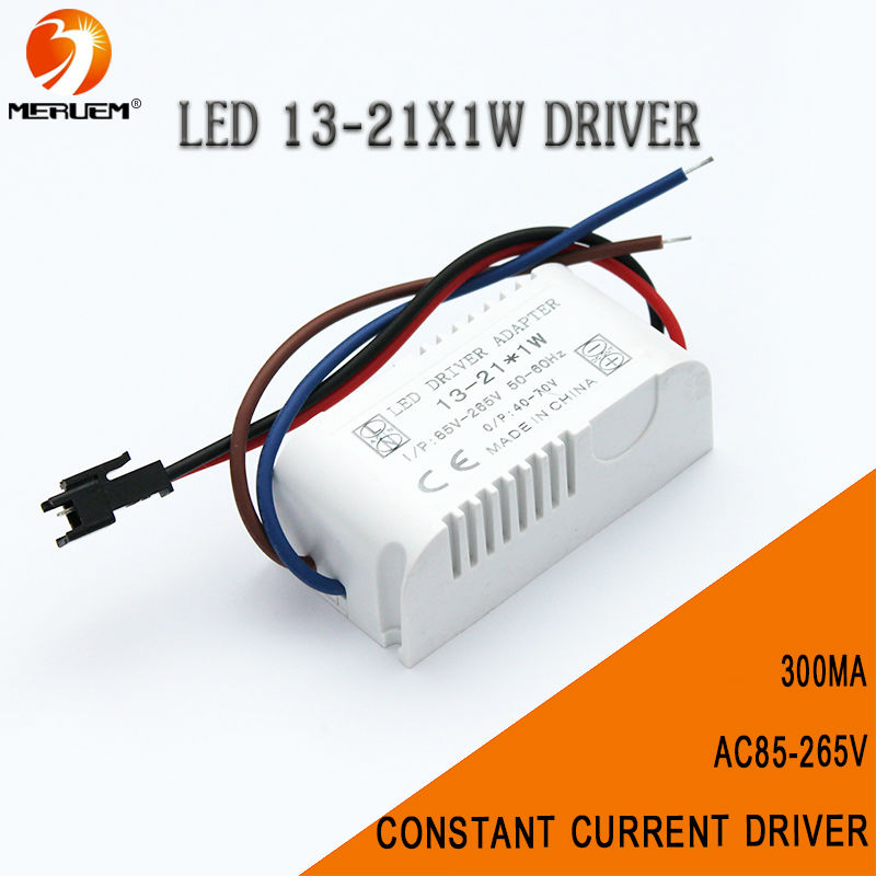 Free shipping 13-21W high power led driver 13-21x1w led lamp transformer 300mA driver for LED DIY light transformers AC85-265v(China (Mainland))