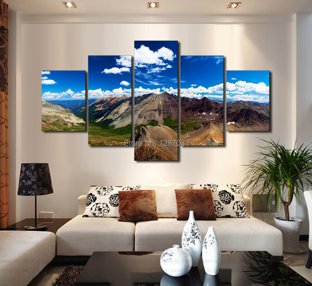Buy 5 piece no frame large diamond for Modern home decor stores