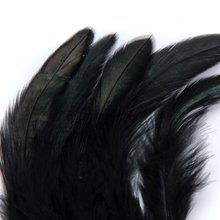 hot sale! A bar 50 mounted black feather length 10-18cm(China (Mainland))