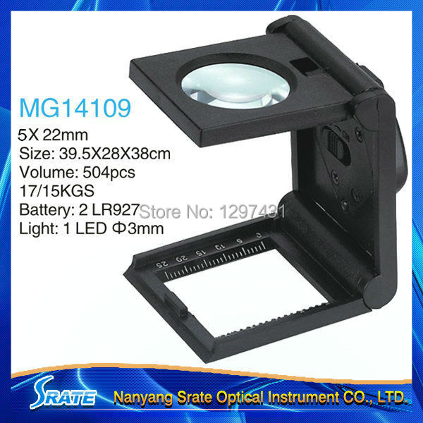 5x Desktop Foldable Magnifier Loupe with Light for Crafts Low Vision Linen Tester<br><br>Aliexpress