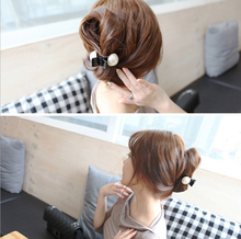 1 Piece Hair accessories Lovely  Pearl Hair Claw scrunchies,crystal Hair Clip headwear Hair band girls accessories(China (Mainland))