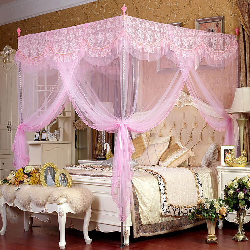 european style palace bed netting mosquito net stainless steel brackets princess bed canopy. Black Bedroom Furniture Sets. Home Design Ideas