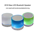 Newest Mini Wireless Bluetooth Speaker LED Flashing Portable Music Sound Box Support TF Card FM for