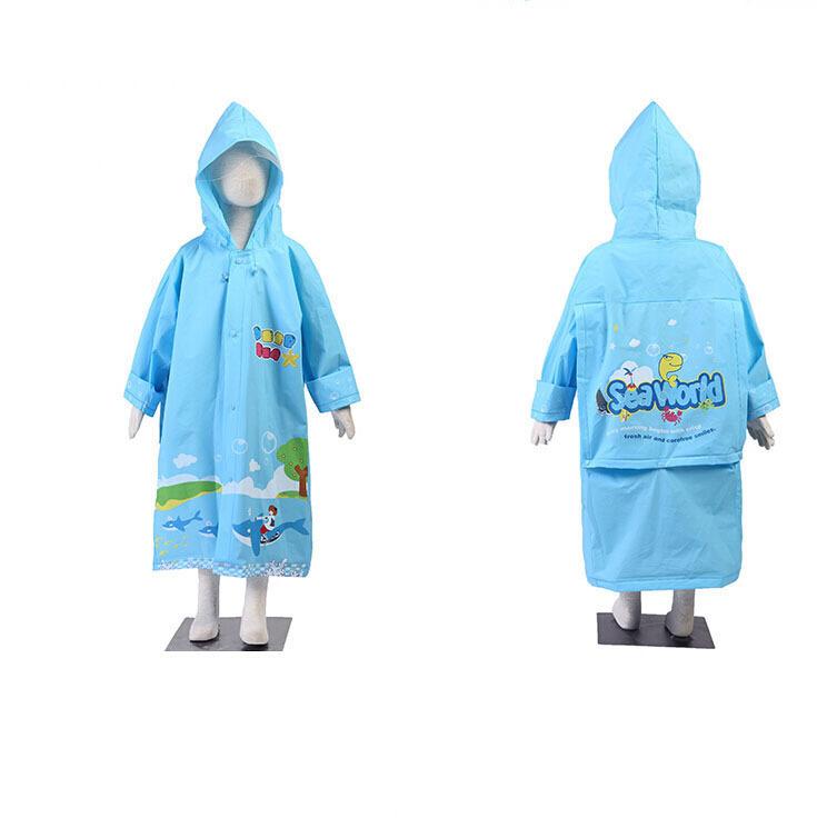 Многоразовые детская мода мультфильм плащ прозрачный открытых с капюшоном загущающие 2 цветов gm19046