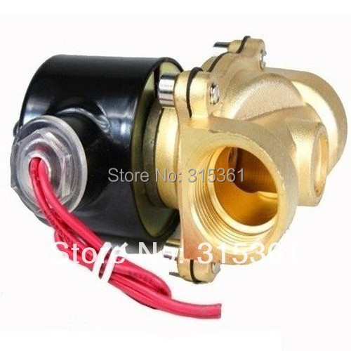 "Free Shipping New Brass 12V DC 1/2"" Electric Solenoid Valve Water Air Fuels Gas Normal Closed (SMALL)(China (Mainland))"
