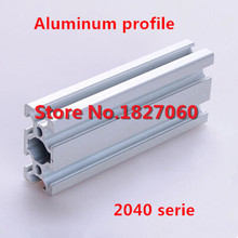 2pcs/lot 2040 Serie Aluminum T-slot Extrusion Profile Lenght=500mm Frame for CNC 3D Printer Engraving Machine(China (Mainland))