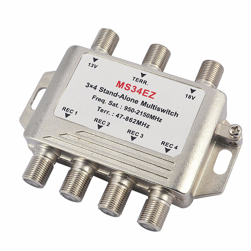 2017 MultiSwitch lnb Satellite Splitter FTA TV LNB Multi Switch Cascade Sate llite 3 in 4 Out Multiswitch For DVB-S2 DVB-T2(China (Mainland))