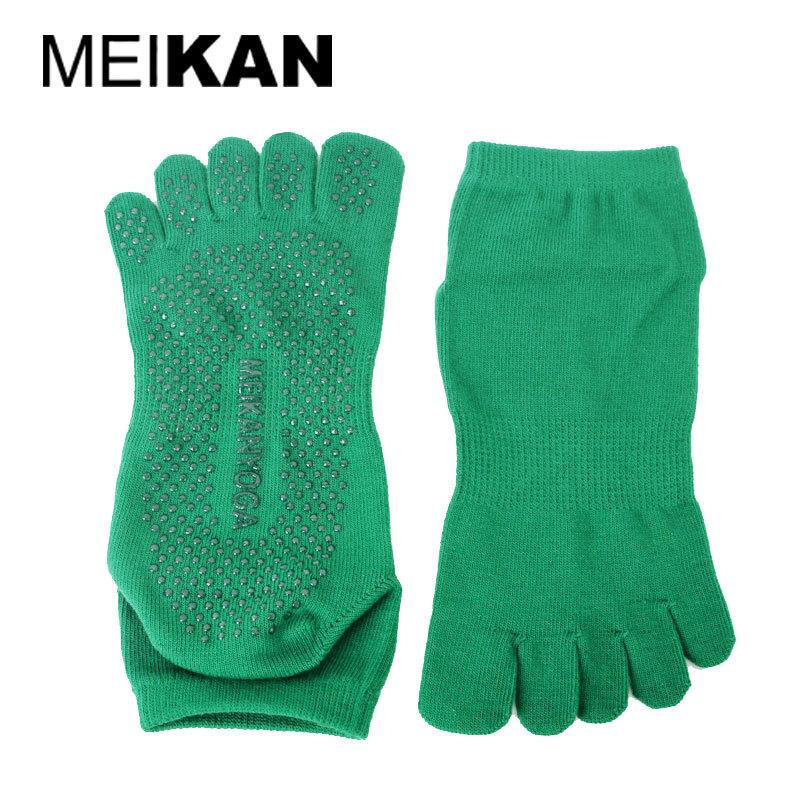 Yoga Socks Women Non Slip Five Toe Sox MEIKAN Brand Cotton Meias Calcetines Deporte Compression Calze Ciclismo Ankle Tabi Socks(China (Mainland))