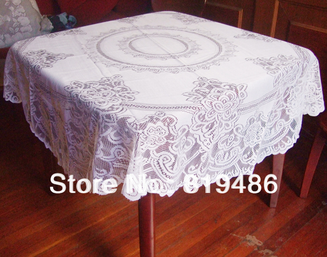 """Free shipping floral lace table cloth round shape 160*160cm(63""""*63"""")100%polyester white color"""