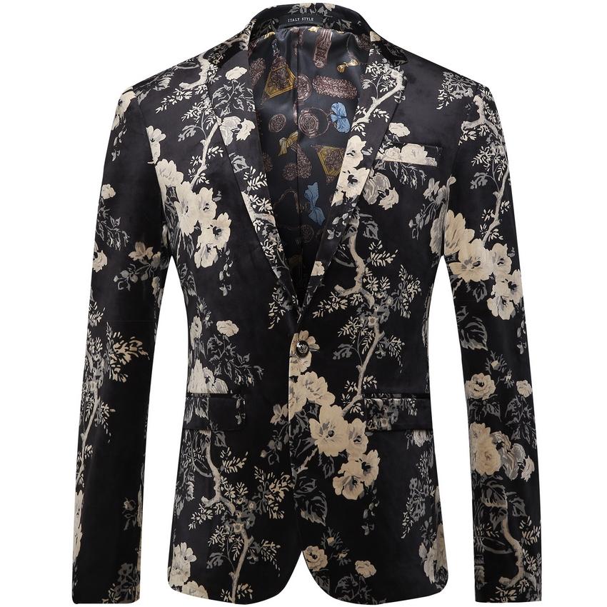 popular flower blazer buy cheap flower blazer lots from. Black Bedroom Furniture Sets. Home Design Ideas