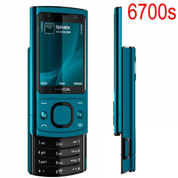 Hot sale Phone Original NOKIA 6700 Silder Mobile Phone 3G GSM Unlocked 6700s Phone Blue & English Keyboard(China (Mainland))