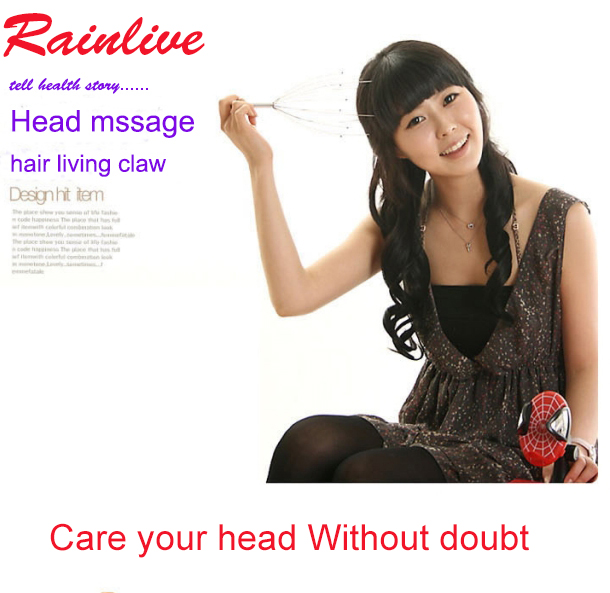 Head massager Scalp Massage claw Scratching device Mini Relaxed health product nice gift(China (Mainland))