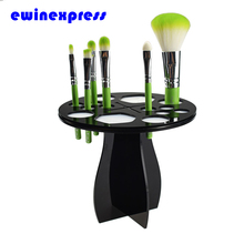 14 Holes High Quality Acrylic Dryer Collapsible Air Drying Tower Makeup Brush Organizing Tree Holder Stand(China (Mainland))