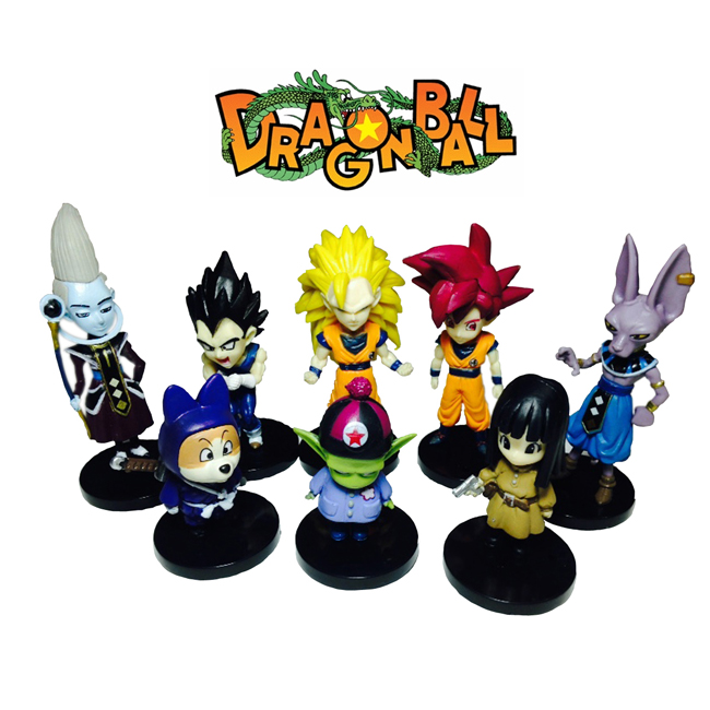 8pcs/LOT 6-10cm Japanese anime figure Dragon ball Z Figurines Brinquedos PVC Action Figures Juguetes Collection Model Kids Toy(China (Mainland))