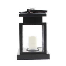 Outdoor Solar Candle LED Light Clamp Mounted Garden Yard Lantern Lamp Yellow(China (Mainland))