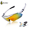WOLFBIKE Men Cycle Glasses Running Glasses Bicycle Gafas Polarizadas Ciclismo Glasses Eyewear Goggle Sunglasses 5 Lens