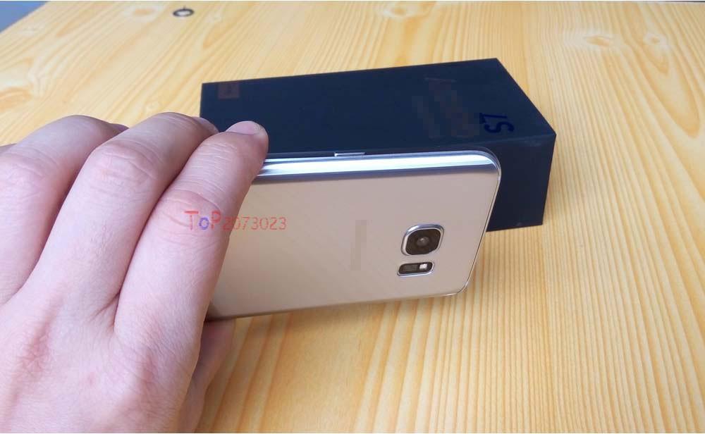 Case add Tempered Glass Film Free for Samsung Galaxy S 7 Unlock Smart Phone MTK6592 Octa Core 4G RAM 64GB SD 12MP Original Logo