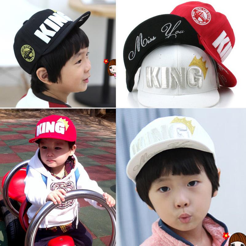 Retail 2014 Children big crown flat brimmed baseball cap Korean hip-hop hat New Listing children cute hats Boys and girls cap(China (Mainland))