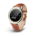 Original DM365 Bluetooth 4 0 Smart Watch MT2502A 360 360 IPS full view Leather Strap Pedometer