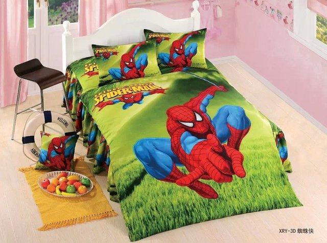 Мальчики человек паук утешитель постельное белье постельное белье для твин-спальная двуспальные кровати 3 / 4 шт. включают пододеяльник лист наволочку наполнитель