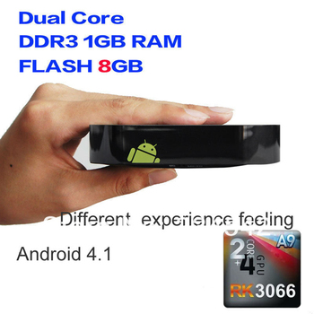 Android HD 1080p tv HDMI WiFi Player Mini PC TV Box IPTV rk3066 android hdmi stick  Free Shipping