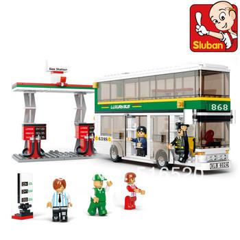 Sluban City Bus B0331 Building Block Sets 403pcs Educational DIY Jigsaw Construction Bricks toys for children