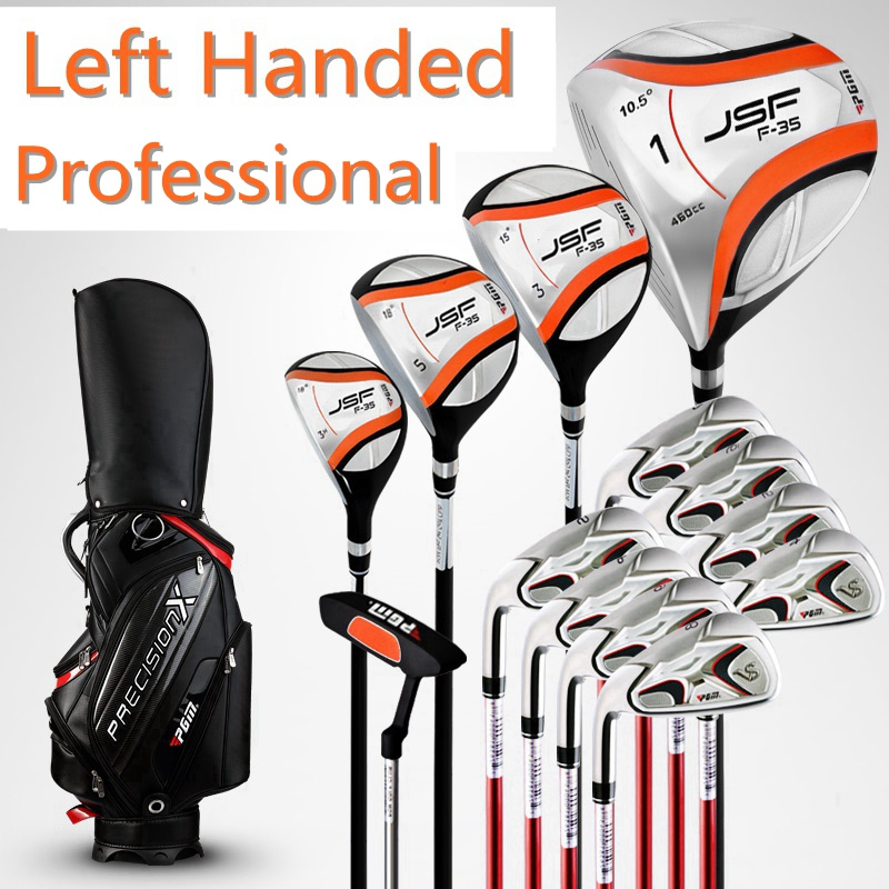 Brand PGM, 13-pieces golf clubs LEFT handed men LEFT handed complete sets men LEFT hand golf clubs. Come with bag and headcovers(China (Mainland))