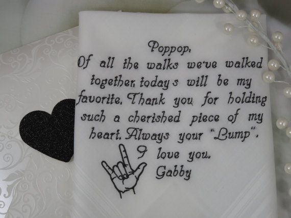 Chinese Wedding Gifts For Brides Parents : customized text Father of the Bride Embroidered wedding father-in-law ...