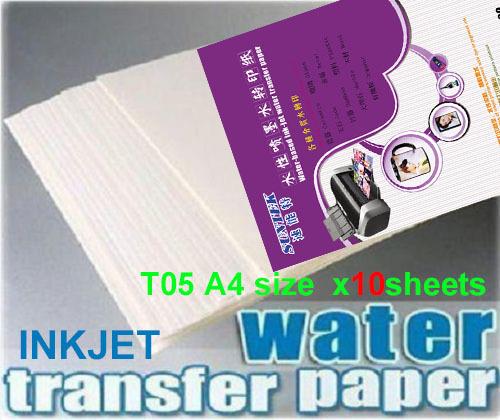 A4 Inkjet white papel transfer water slide decal paper transfer camisetas water transfer papers papier transfert ceramic decal(China (Mainland))