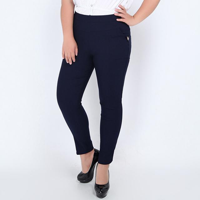 Большой размер 2XL-6XL женские брюки 2016 мода дамы резинкой на талии женщины длинные ...