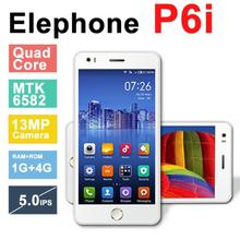 Original Elephone P6i Cell Phone MTK6582 Quad Core 1.3GHz 5.0″ QHD IPS Screen 1GB RAM 4GB ROM Android 4.4 Camera 13MP 3G WCDMA