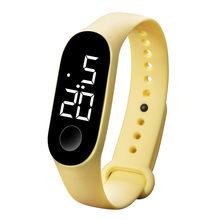 50MWaterproof hommes femmes montre numérique montre LED de sport cadran en verre Silicone montre-bracelet reloj deportivo hombre reloj montre numérique(China)