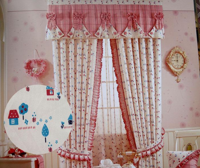 Deco Chambre Fillette : Xd Rural style enfants chambre à coucher rideaux rideau tissu art