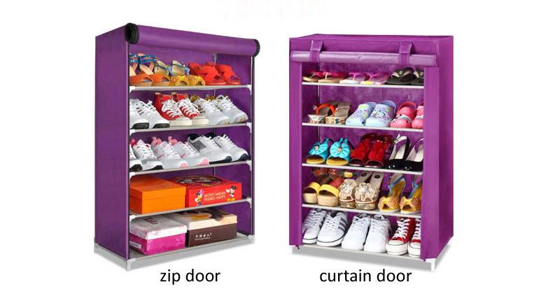 free shipping fabric shoe rack shoe cabinet shoe storage living room furniture(China (Mainland))