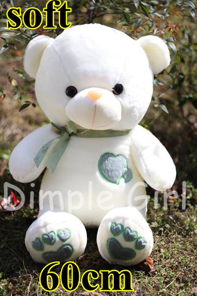 60cm Novelty Item Creative Present Happy Birthday Gift Souvenir Giant Teddy Bear Plush Toy Soft Doll For Kids Party Decoration(China (Mainland))