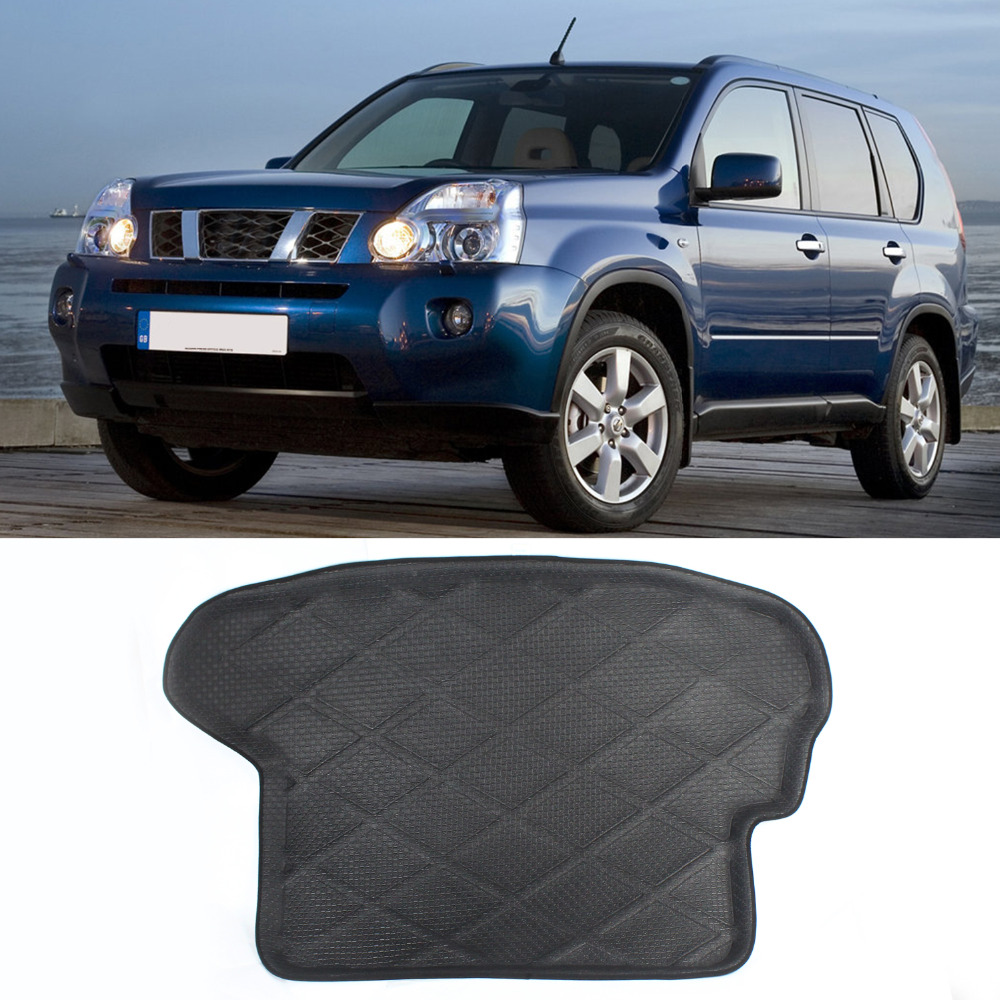 High Quality 3D Heavry Duty Rear Tail Car Truck Cargo Mat Tray Liner Black Waterproof Dustproof For X-trail 2008- present
