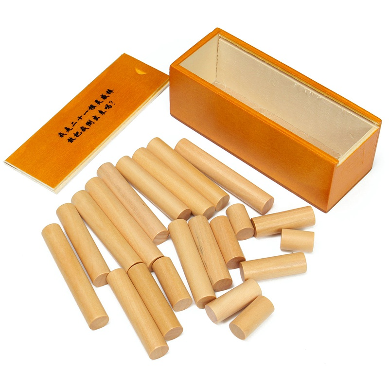 Wooden Toys Puzzle 21 Stick of Inspiration Classical Children's And Adult Eucational Development Intelligent Toys(China (Mainland))