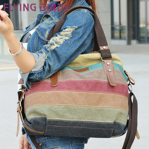 FLYING BIRDS! 2014 new arrive famous brand women canvas handbags shoulder Messenger Bag cool lady pouch LS1978(China (Mainland))
