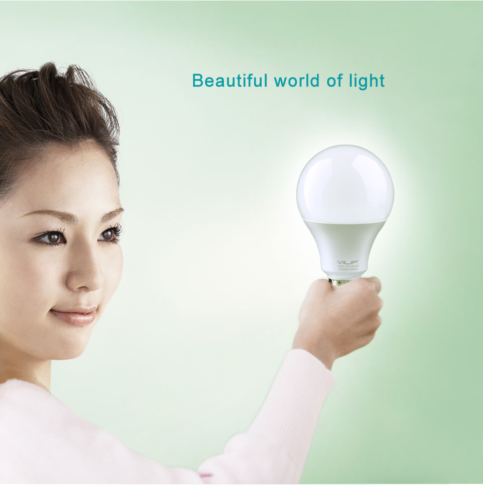 Vilip Hot LED Lamp Bulb Light New Bombillas Saving Energy lampada High Brightness 3/5/7/9/12/15W AC110V/220V SMD2835 White B008