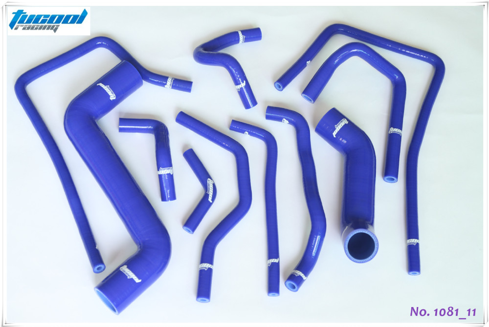 Silicone Radiator Hose Kit for Subaru Impreza WRX STi GDA GDB 00-07 Blue 1081 11pcs(China (Mainland))