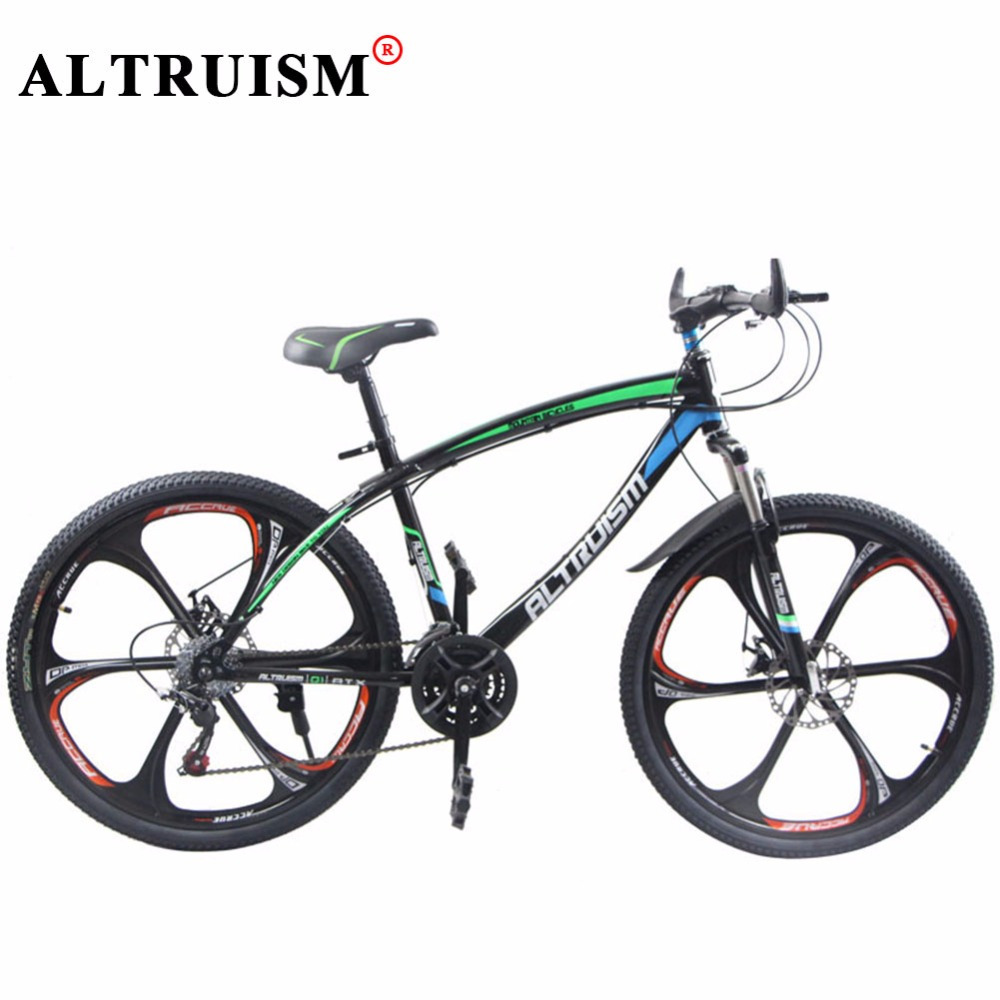 Altruism Q1 Bicycle 26 Inch Road Bike 21 Speed Downhill Mountain Bike Steel Double Disc Brake Bici Corsa Womens Bicycles Bmx