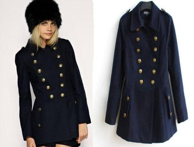 Black ladies pea coat – Novelties of modern fashion photo blog