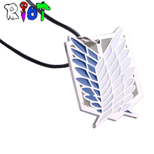 Buy Anime Peripheral Pendant Necklace Attack Titan Scout Regiment Logo Necklace Survey Corps Erwin Smith Accessories Jewelry for $1.01 in AliExpress store