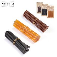 Neitsi 12pc/pack Hotmelt Keratin Glue Sticks 7.8mm * 100mm High Quality Melting Hot Gun Glue Stick Black Brown Orange 3 Colors(China (Mainland))