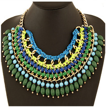 2015 statement necklace Branded Women's Fashion Accessories Bohemian ethnic chokers necklaces Hand drop necklace preparation