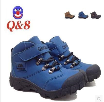 Winter snow boots tide Children Boys shoes waterproof casual suede - Ye Shu's Shoe Store store