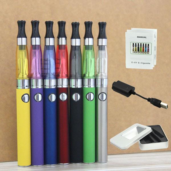 1 Colorful EGO 1.6ml CE5 Atomizer 900mah EVOD Battery Aluminium Box Kit Clearomizer Vape Pen