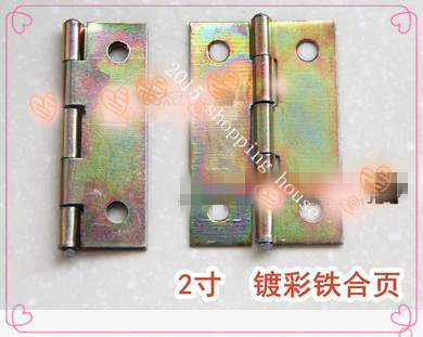 Hardware accessories Plating color light iron hinges cupboard doors and windows hinge(China (Mainland))