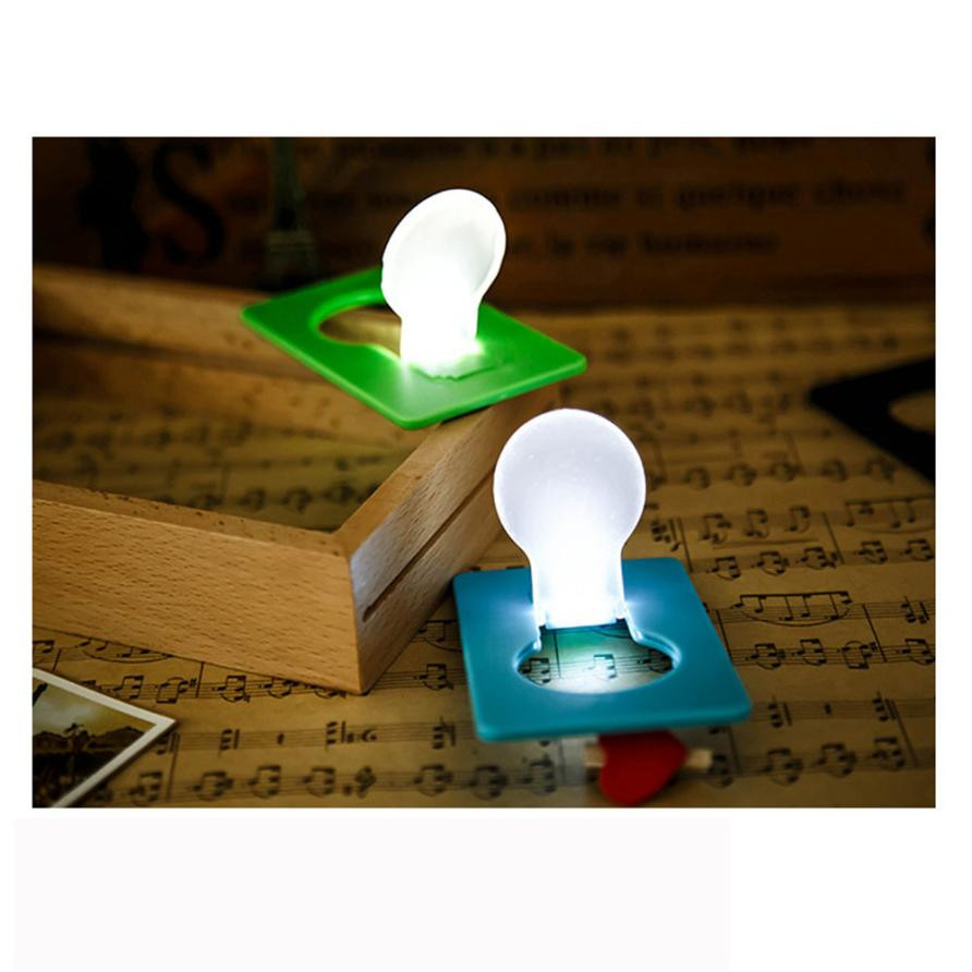 DC 7 Shining Hot Selling Drop Shipping  5X Mini Wallet Pocket Credit Card Size Portable LED Night Light Lamp Bulbs Cute