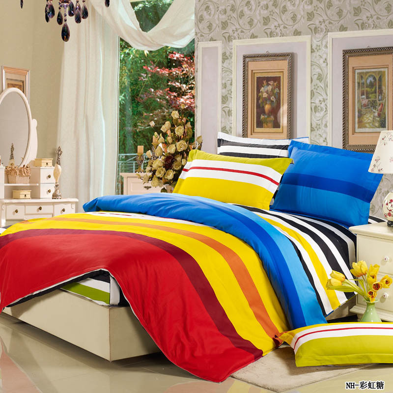 100 cotton 4pcs bed set bedding sets fitted bedclothes